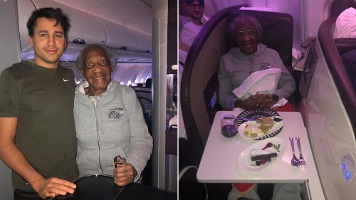 Plane passenger gives first-class seat to 88-year-old woman, makes her 'dream' come true: 'No one asked him to'