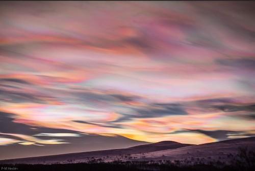 NASA captures breathtaking image of nacreous clouds over Sweden