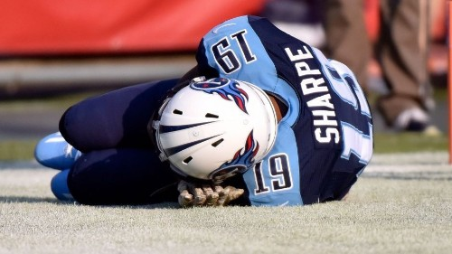 Titans rookie Tajae Sharpe flagged for pretending to sleep after his first career TD