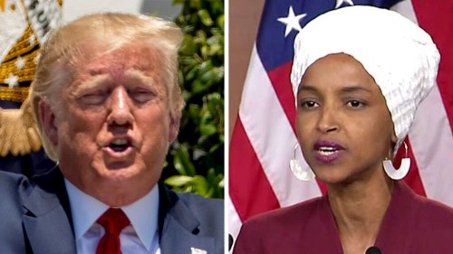 Watch: Ilhan Omar uses president's words to deliver heated, profanity-laced attack on Trump