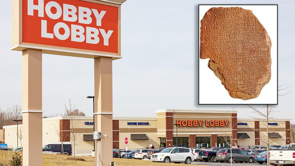 Hobby Lobby sues Christie's auction house over sale of illegally imported Mesopotamian tablet