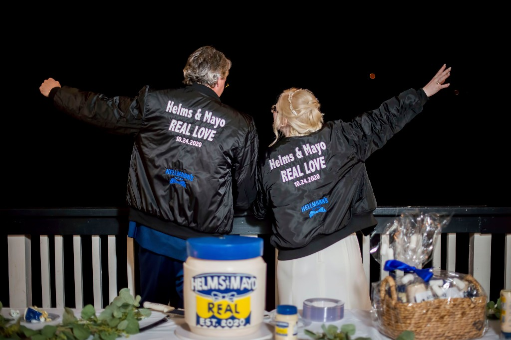 Hellmann's surprises couple named 'Helms,' 'Mayo' on their wedding day with mayonnaise