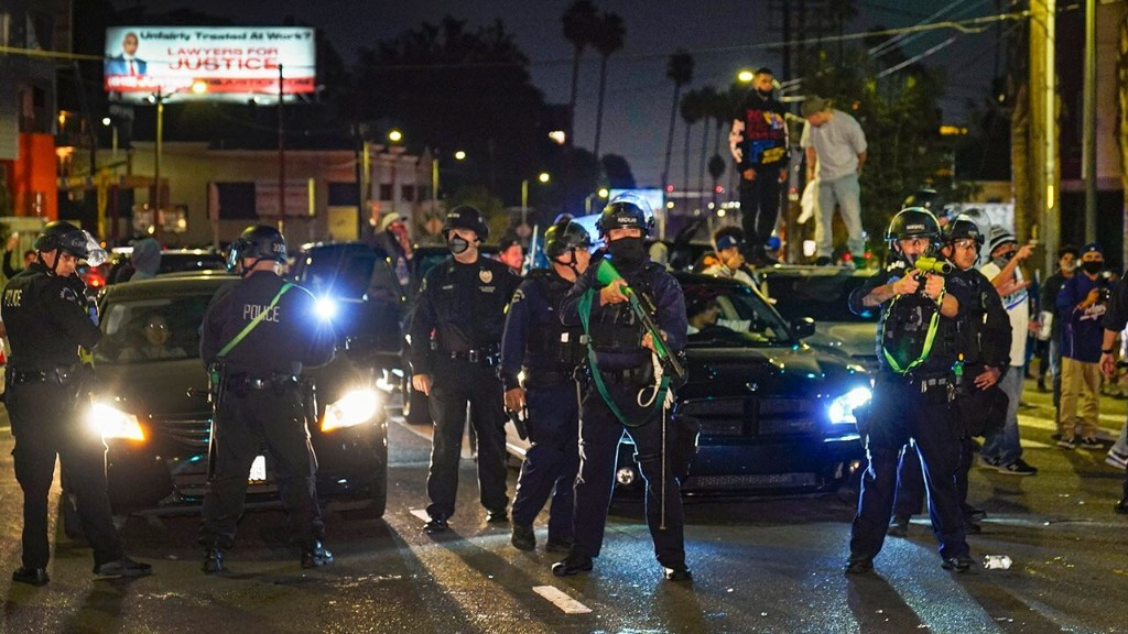 Los Angeles erupts into overnight unrest after Dodgers win, sparking coronavirus, crime concerns