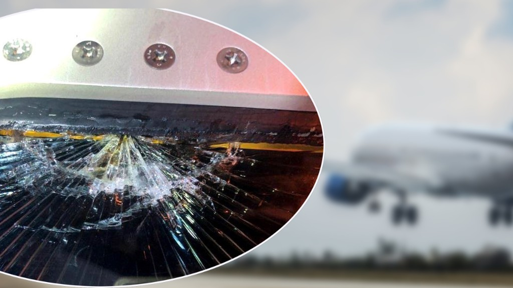Airliner plunges 10,000 feet in three minutes after cockpit window cracks