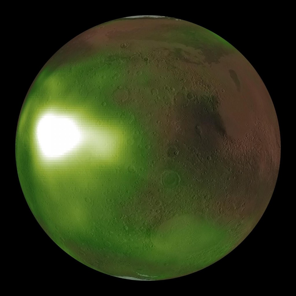 Mars 'nightglow' spotted by NASA spacecraft