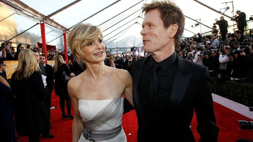 Kyra Sedgwick says she was 'terrified' when she fell in love with husband Kevin Bacon
