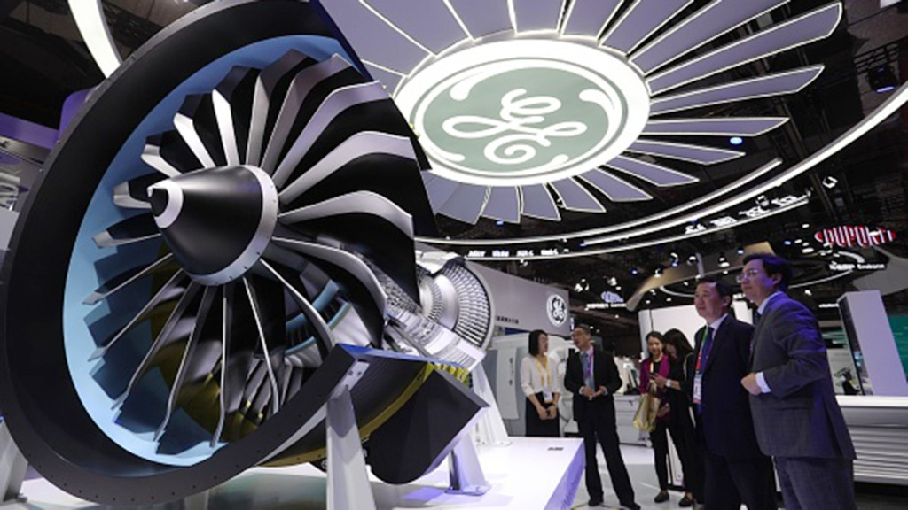 GE hammered by steep declines in jet-engine business