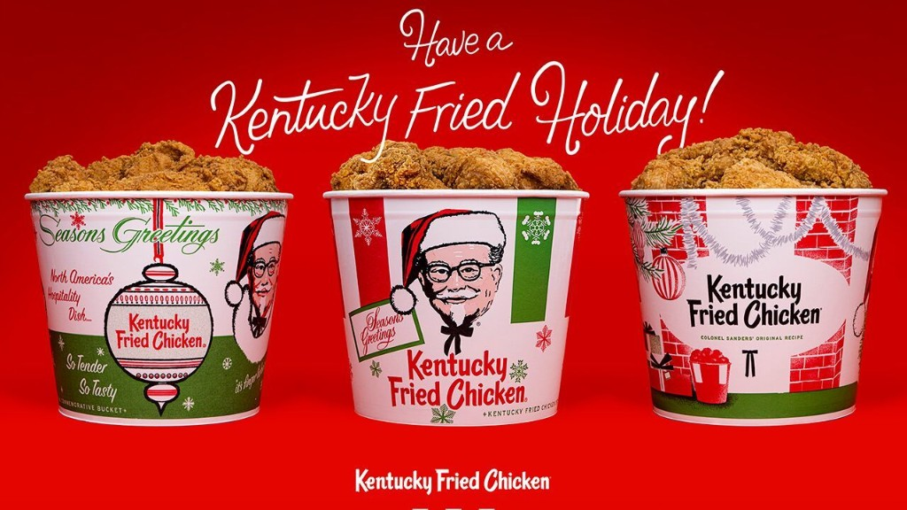 KFC to sell chicken in replica 'holiday buckets' from the '60s and '70s