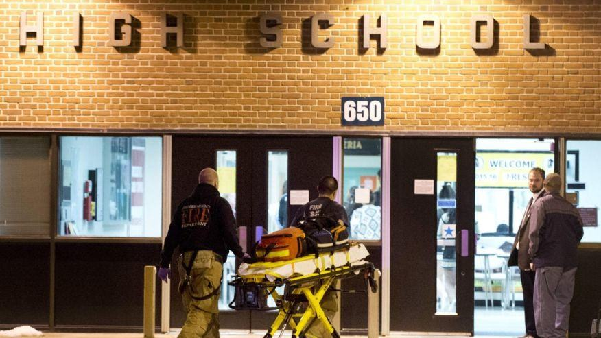 2 students wounded in shooting outside Maryland high school