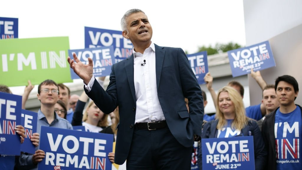 Remain voters look to London's Sadiq Khan in wake of Brexit