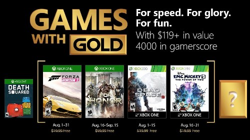 Xbox One's Free Games With Gold For August 2018 Revealed - GameSpot