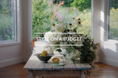 Table of Contents: Style on a Budget