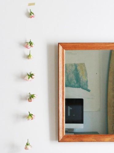 DIY Rose Garland: New Life for Last Week's Flowers