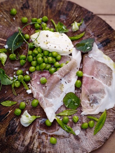 Recipe: Peas with Ham and Cheese from Kitchen Garden Experts