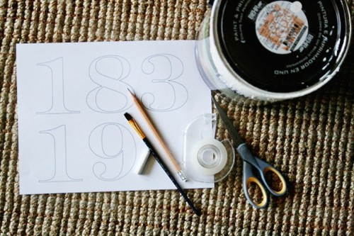 DIY: Painted House Numbers