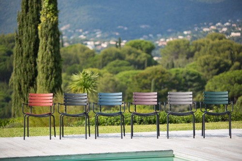 Patio Furniture: Colorful Outdoor Armchairs from a Danish Designer