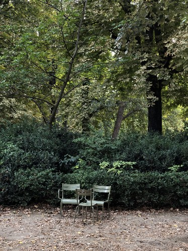 10 Easy Pieces: Sage Green Outdoor Chairs for the Parisian Garden