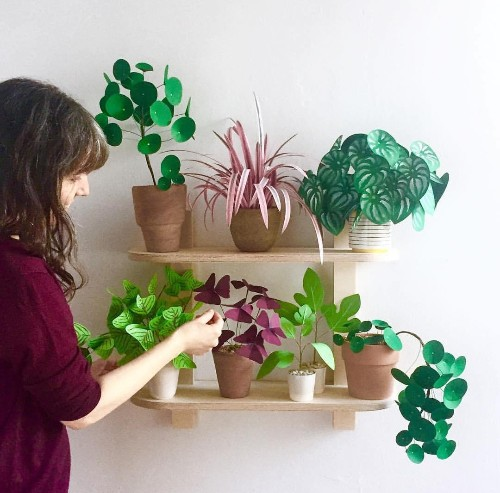 Paper Chase: Artful Plant Sculptures by Corrie Beth Hogg for GRDN Brooklyn