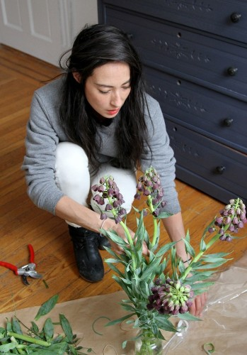 DIY: Reclaiming an Old-Fashioned Cut-Glass Vase with James's Daughter Flowers