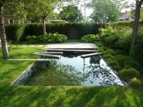 The Dark Mirror: A Backyard Reflecting Pool in Eastern Europe - Gardenista