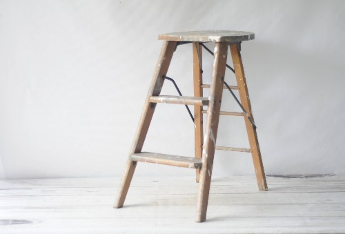 Etsy Storage: Folding Ladders, Paint Splatters Included