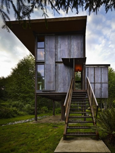 Architect Visit: An Indestructible Cabin on Stilts by Olson Kundig