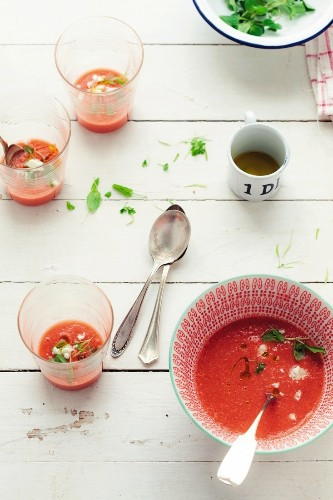 Blender Magic: Instant Watermelon Gazpacho