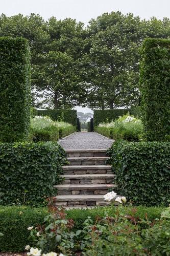 Grandeur in the Hamptons: A Sprawling Estate, Sunken Rose Garden Included