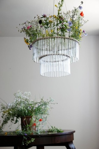 A Garden in the Sky: Test Tube Chandeliers from Poland