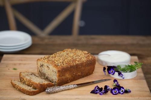 Recipe: Amaranth Banana Bread, Flowers Optional