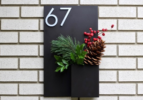 Object of Desire: House Numbers with Planters by Modern Aspect