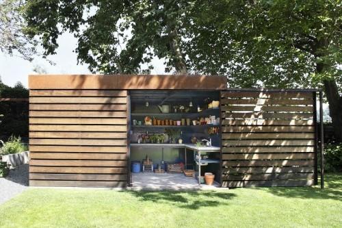 Architect Visit: A Stylish Garden Shed with a Secret