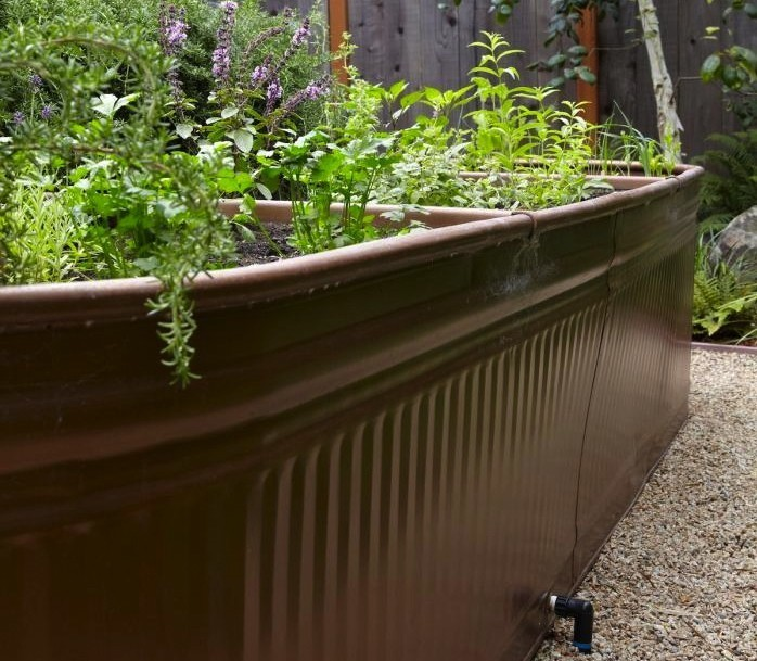 Steal This Look: Water Troughs as Raised Garden Beds - Gardenista