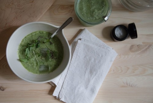 Chilled Zucchini Summer Soup, Vitamix Edition