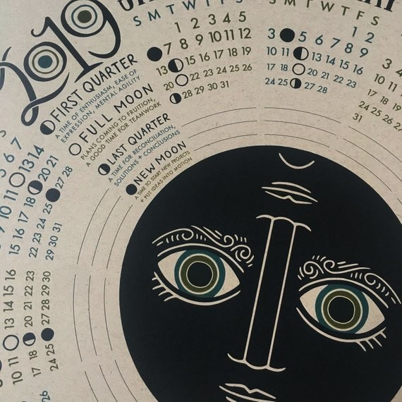 10 Easy Pieces: Moon Calendars for 2019