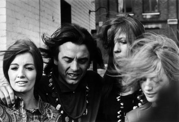 British photographer David Bailey with Christine Keeler, Penelope...
