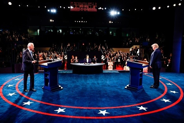 US President Donald Trump and Democratic Presidential candidate and...