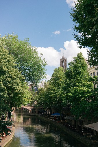 The Canals in Utrecht during the summer can be busy but the view is...
