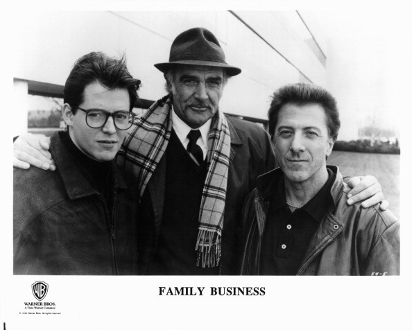 Sean Connery with Matthew Broderick and Dustin Hoffman