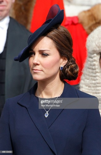 Catherine, Duchess of Cambridge attends a Service of Commemoration to...