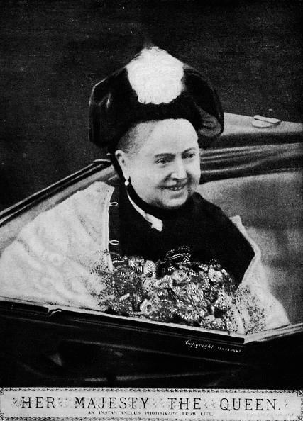 Queen Victoria', circa 1890s, . Queen Victoria in an open carriage on...