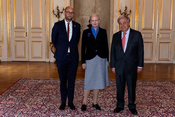 Queen Margrethe of Denmark receives António Guterres ,...