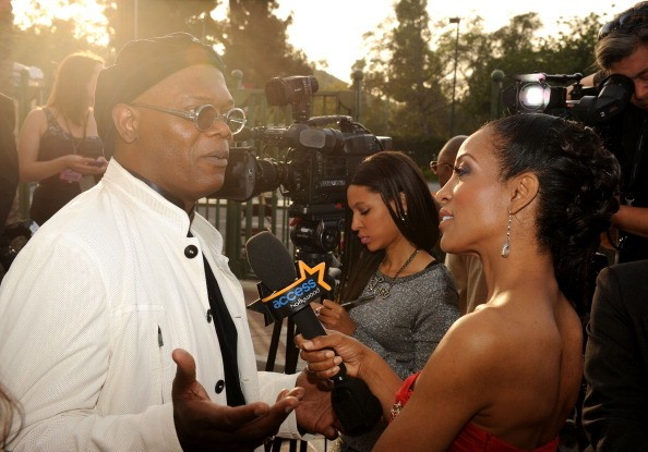 Actor Samuel L. Jackson arrives at the 42nd NAACP Image Awards held...