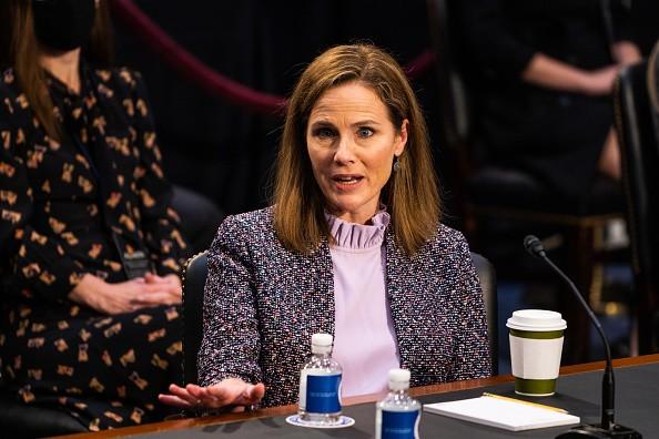 Supreme Court nominee Amy Coney Barrett during the Senate Judiciary...