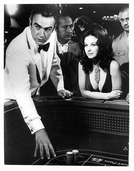 Sean Connery and Lana Wood at the gambling table