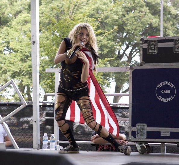 KE$HA performs during the 2009 Lollapalooza music festival at Grant...