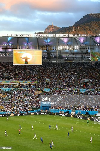 A general view of play during the 2014 FIFA World Cup Brazil Final...