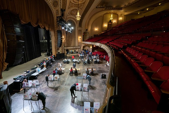 In Madison, WI, voters cast their ballot at The Orpheum Theater