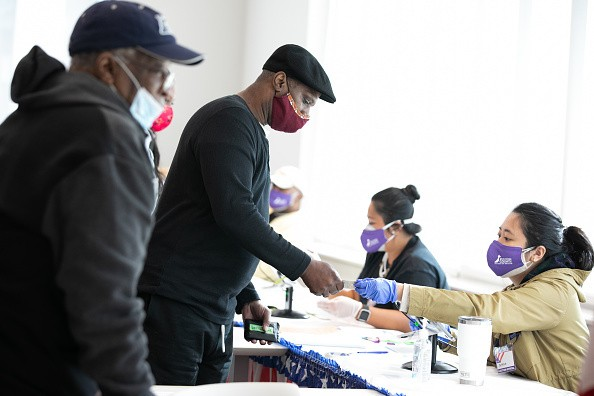 In Atlanta, Georgia, voters check-in with poll workers