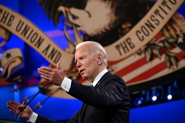 Democratic Presidential candidate and former US Vice President Joe...